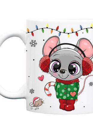 Чашка подарок новый год 2020 мышка