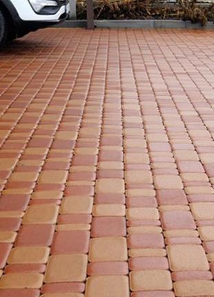 Плитка тротуарная Старый Город 60 мм с фаской оранжевая, желтая,
