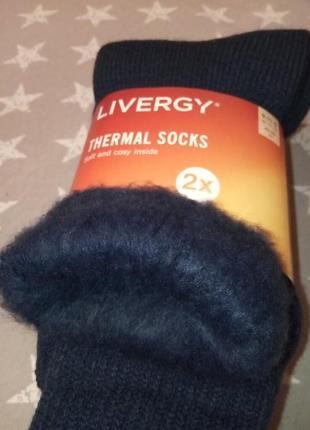 Супер теплые термо носки с начесом livergy германия, термоноски