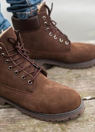 Стильные и крутые мужские ботинки timberland brown, коричневые...