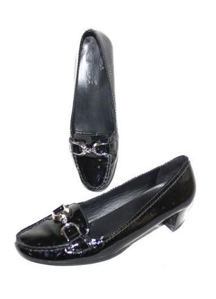 Туфли балетки мокасины натуральная кожа лак geox 37,5 р бразилия