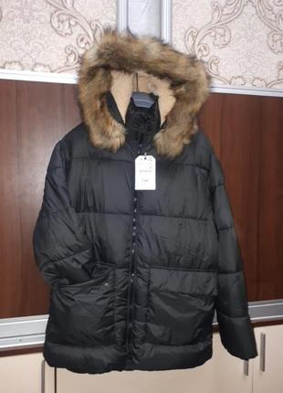 Зимняя куртка парка zara 164