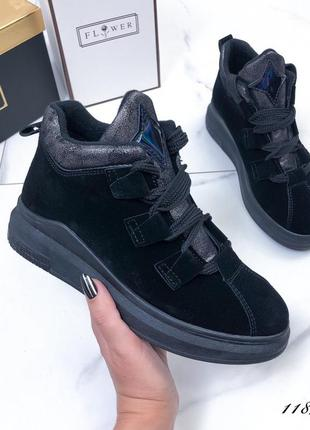 Стильные женские ботиночки черные