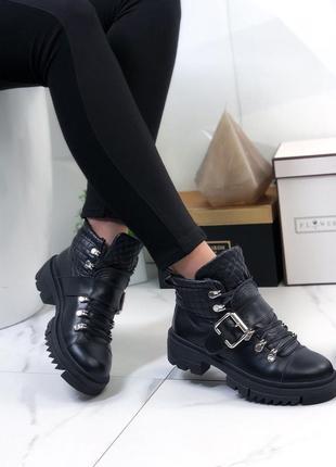 Ботинки демисезонные натуральная кожа черные