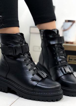 Ботинки кожаные женские высокие