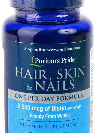Hair, Skin & Nails One Per Day Formula (30 softgels) Puritan's...