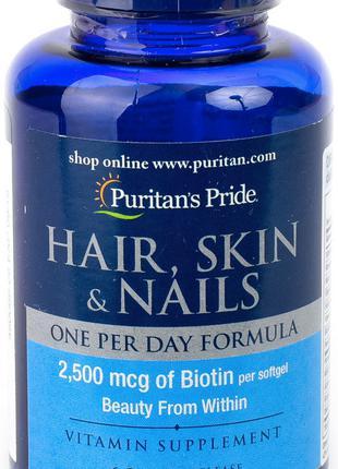Hair, Skin & Nails One Per Day Formula (60 softgels) Puritan's...