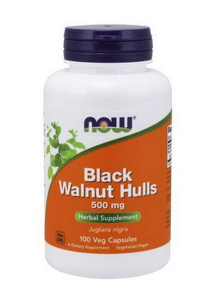 Черный грецкий орех (скорлупа) Now Foods Black Walnut Hulls 50...