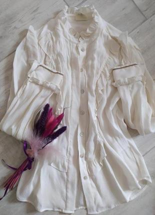 Нежная и оригинальная блуза датского дизайнера julie fagerholt .