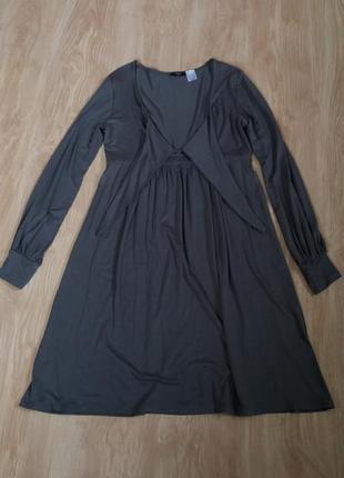 Платье вязаное с завязкой на груди la redoute