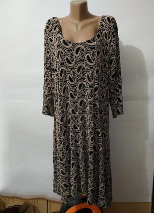 Платье большой размер новое нарядное эластичное кружевное uk 2...