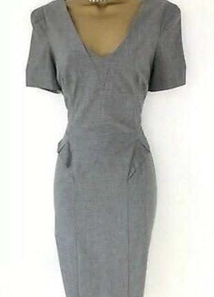 Oasis серое базовое деловое платье футляр, р.14-40, наш 46-48