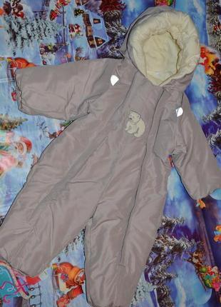 Новый зимний комбинезон reima 68-74см. 6-12мес для малышей