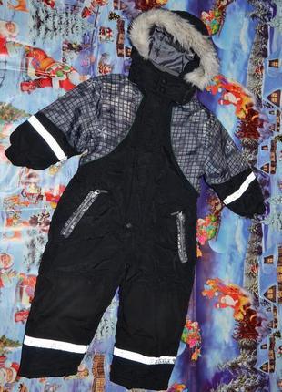 Фирменный зимний комбинезон 80р. 12-24мес. на мальчика