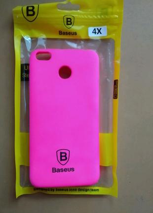 Силиконовый чехол розовый Xiaomi Redmi 4x