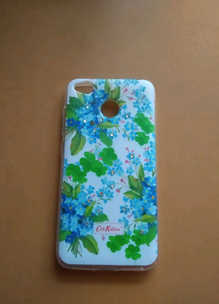 Силиконовый чехол цветы Xiaomi Redmi 4x