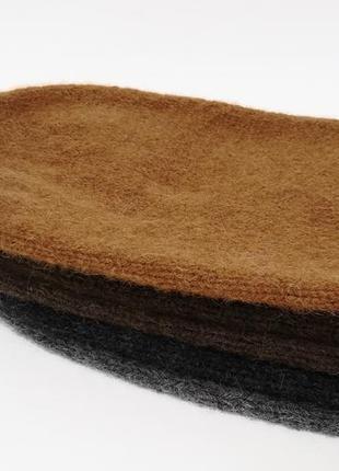 Теплая шапка бини зима альпака ручная работа