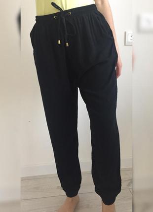 Штани, легкие, штаны, легкие черные брюки.