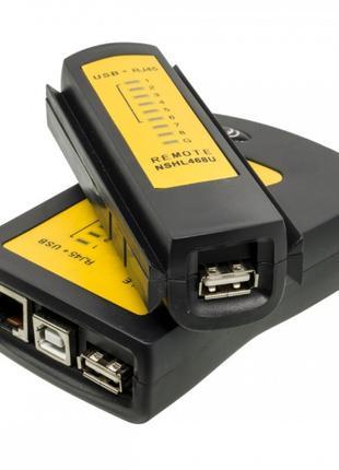 Кабельный тестер Merlion NSHL468U, RJ-45 + USB