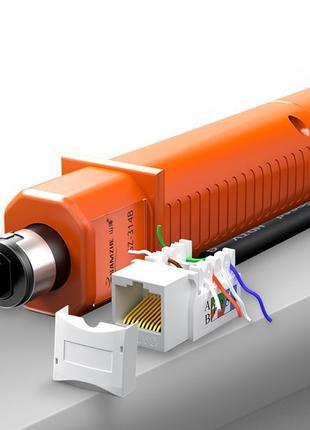 Инструмент HT-314B для заделки витой пары в кроссы, патч-панел...