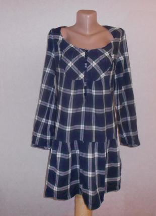 New look невесомое легкое хлопковое платье в клетку, р.16-44, ...