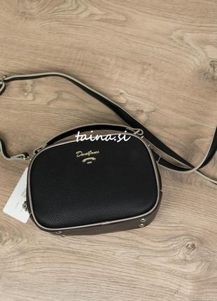 Клатч david jones 5952-1t black оригинал черная сумка кросс боди