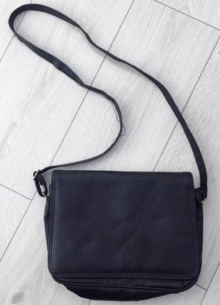 Сумка, сумка почтальонка, черная сумка.