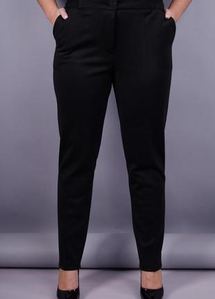 Размеры 50, 54! брюки классика дайвинг на флисе, черные!