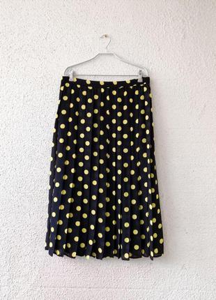 Плиссерованная юбка миди
