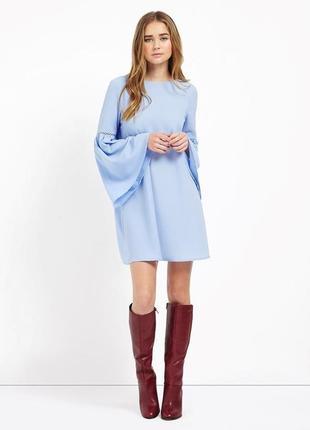 Текстурное платье рукав колокольчик, можно беременным