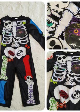 Яркий костюм скелетика от tu на 1-2 года(80-92)