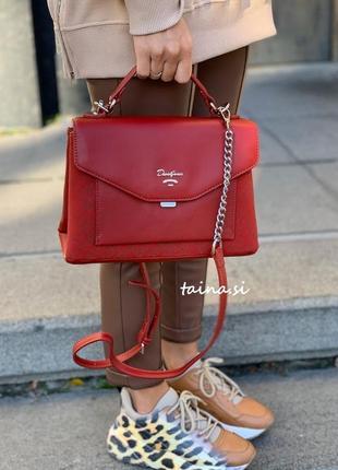 Клатч david jones 6170-2t d. red оригинал красная сумка