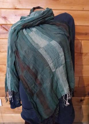 Легкий натуральный шарф шаль палантин .