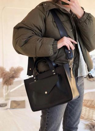 5 цветов! сумка черная классическая с широким ремешком базовая