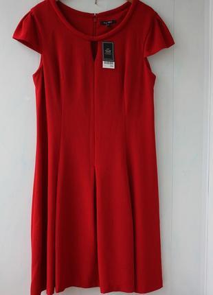 Темно-красное платье next