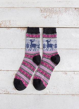 7-35 різдвяні шкарпетки з оленями рождественские новогодние но...