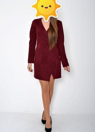 Платье женское 115r356a цвет бордо