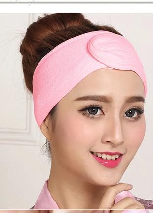 Повязка для волос косметическая-безразмерная с липучкой.