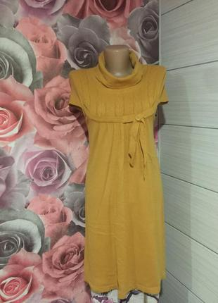 Тёплое  мягкое платье- туника с воротником-хомутом . качество ...
