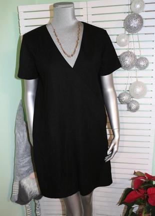 Базовое черное платье zara