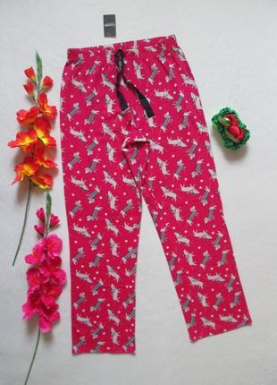 Суперовые хлопковые домашние пижамные штаны принт такса в зимн...