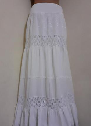 Юбка белая, юбка длинная/jennifer teylor