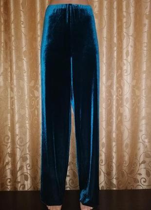 🎀🎀🎀стильные, новые бархатные, велюровые штаны, брюки 20 размер...