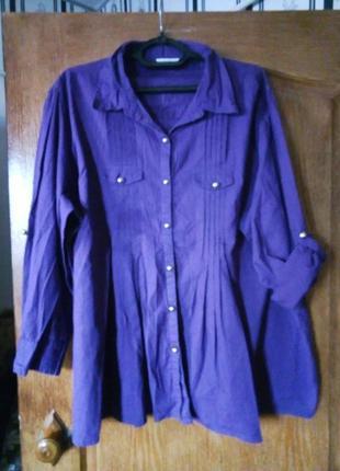 Рубашка натур.ткань 62-64р