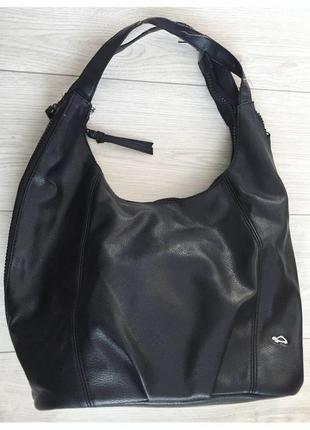 Сумка чорна від carpisa, зручна, велика сумка, через плечо.