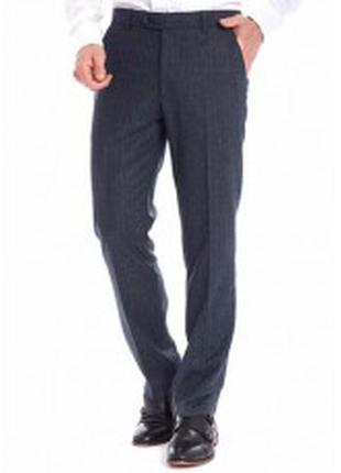 Мужские брюки темно-серые в мелкую полоску burton