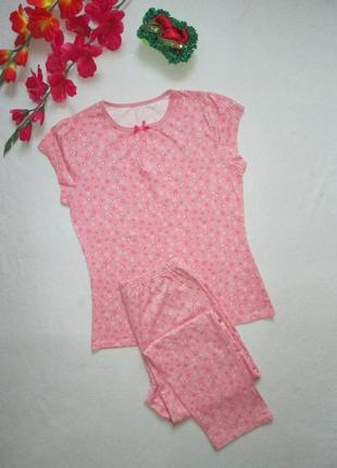 Классная хлопковая подростковая пижама домашний костюм в цвето...