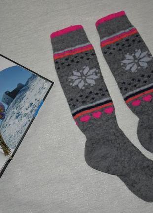 Термоноски шерсть мериноса 35-38 р носки лыжные женские