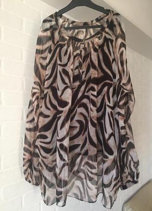 Блуза двойка marks & spencer portfolio шёлк  размер 24uk наш 5...