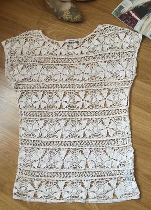 Кружевная блуза топ george размер 8uk наш 42